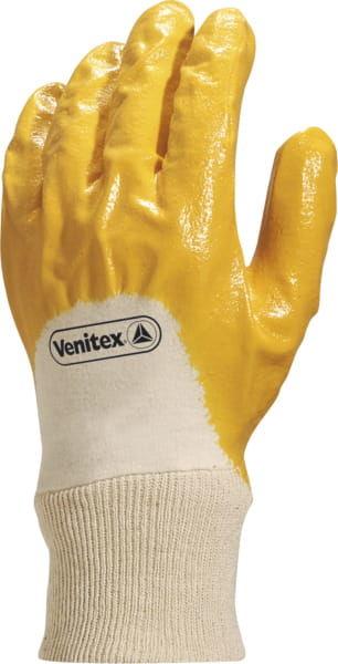 Rękawice robocze NI015 nitrylowa żółta