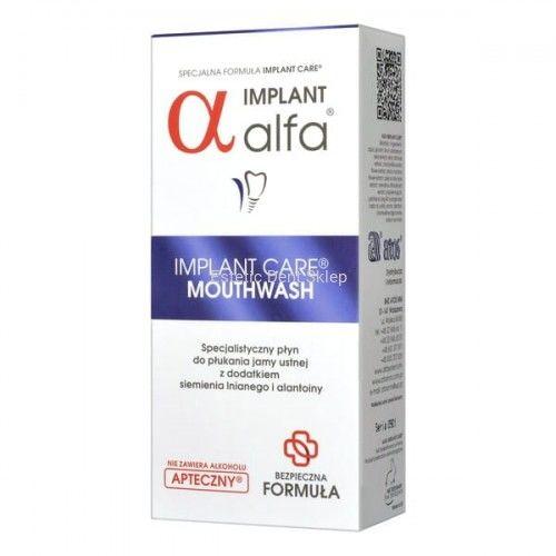 Alfa Implant Care - Płyn do stosowania przed i po zabiegach implantacji lub ekstrakcji zęba 200ml