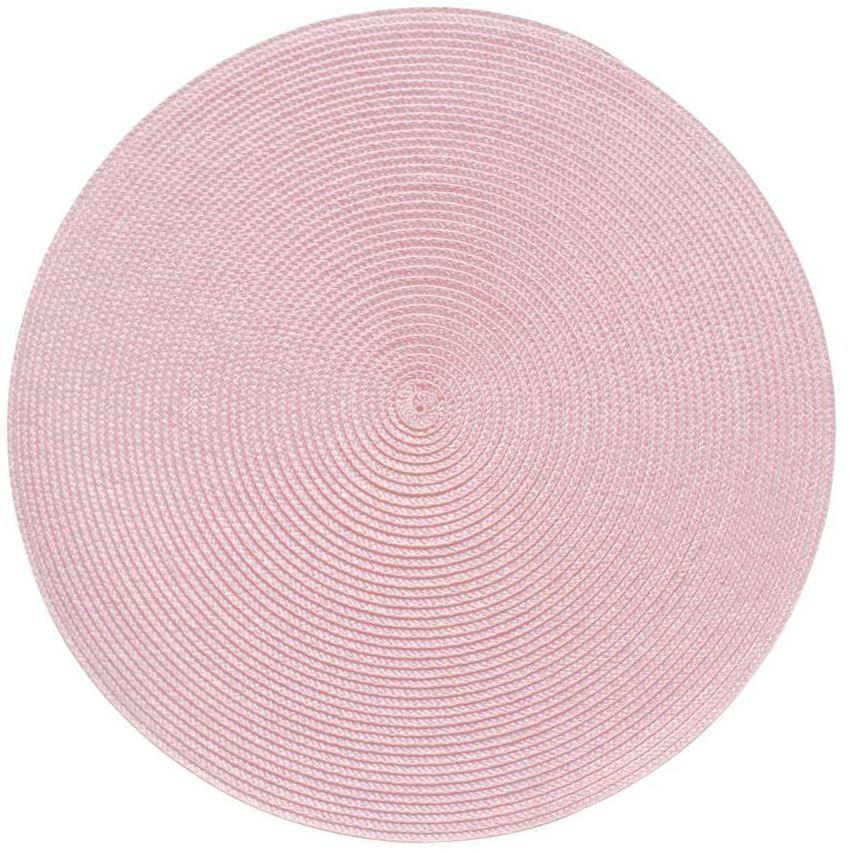 Podkładka na stół SPLOT okrągła śr. 38 cm pudrowy róż