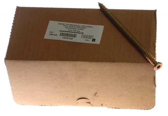 Wkręt do montażu ram FHD 7.5x092 stożek (100szt.) DUZY ŁEB