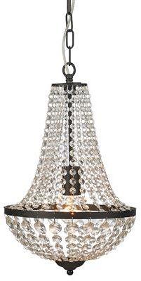 Żyrandol Granso 30cm 107026 Markslojd kryształowa czarna oprawa wisząca