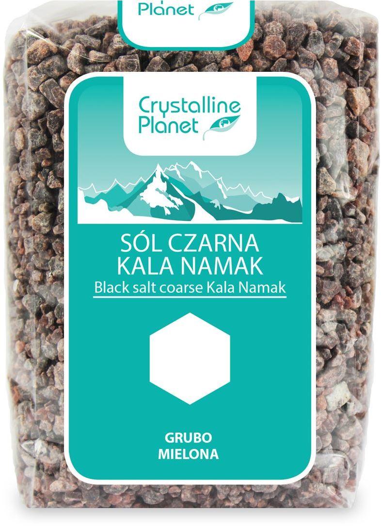 Sól czarna kala namak grubo mielona 600 g - crystalline planet