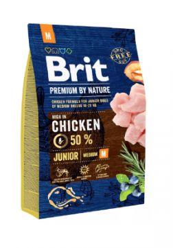 Brit Premium By Nature Chicken Kurczak Junior M 3 kg