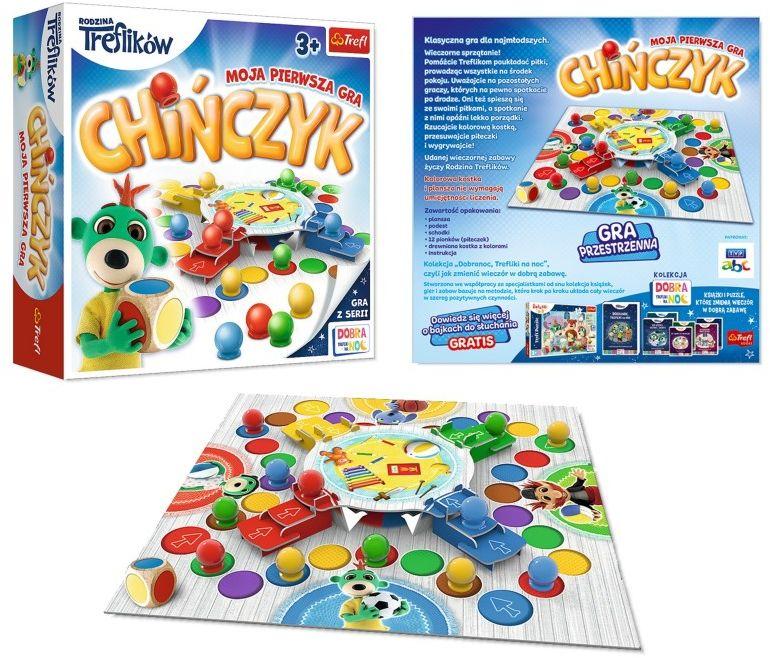Gra Chińczyk Rodzina Treflików Moja pierwsza gra Trefl 3+ 6141-TREFL-GRY
