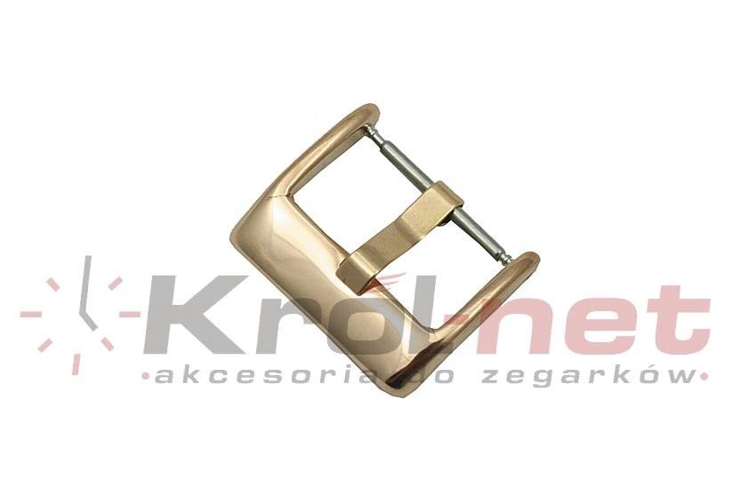 Sprzączka / klamerka różowe złoto - 18 mm, polerowana