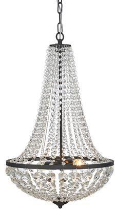 Żyrandol Granso 40cm 107027 Markslojd kryształowa czarna oprawa wisząca