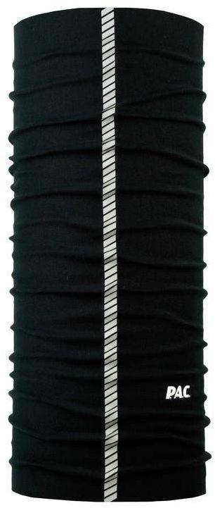 Wielofunkcyjna tuba, komin, chusta rowerowa czarna z odblaskiem
