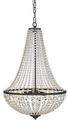 Żyrandol Granso 50cm 107028 Markslojd kryształowa czarna oprawa wisząca