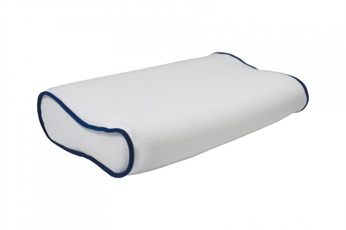 Poduszka ortopedyczna Visco Memory Niebieska Ramówka
