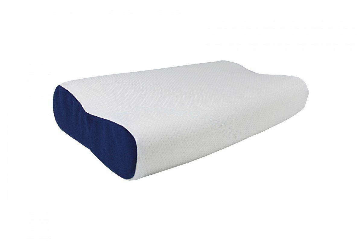 Poduszka ortopedyczna Visco Memory Niebieski Bok