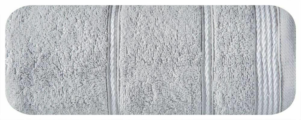 Ręcznik Mira 50x90 srebrny 05 frotte 500 g/m2 Eurofirany