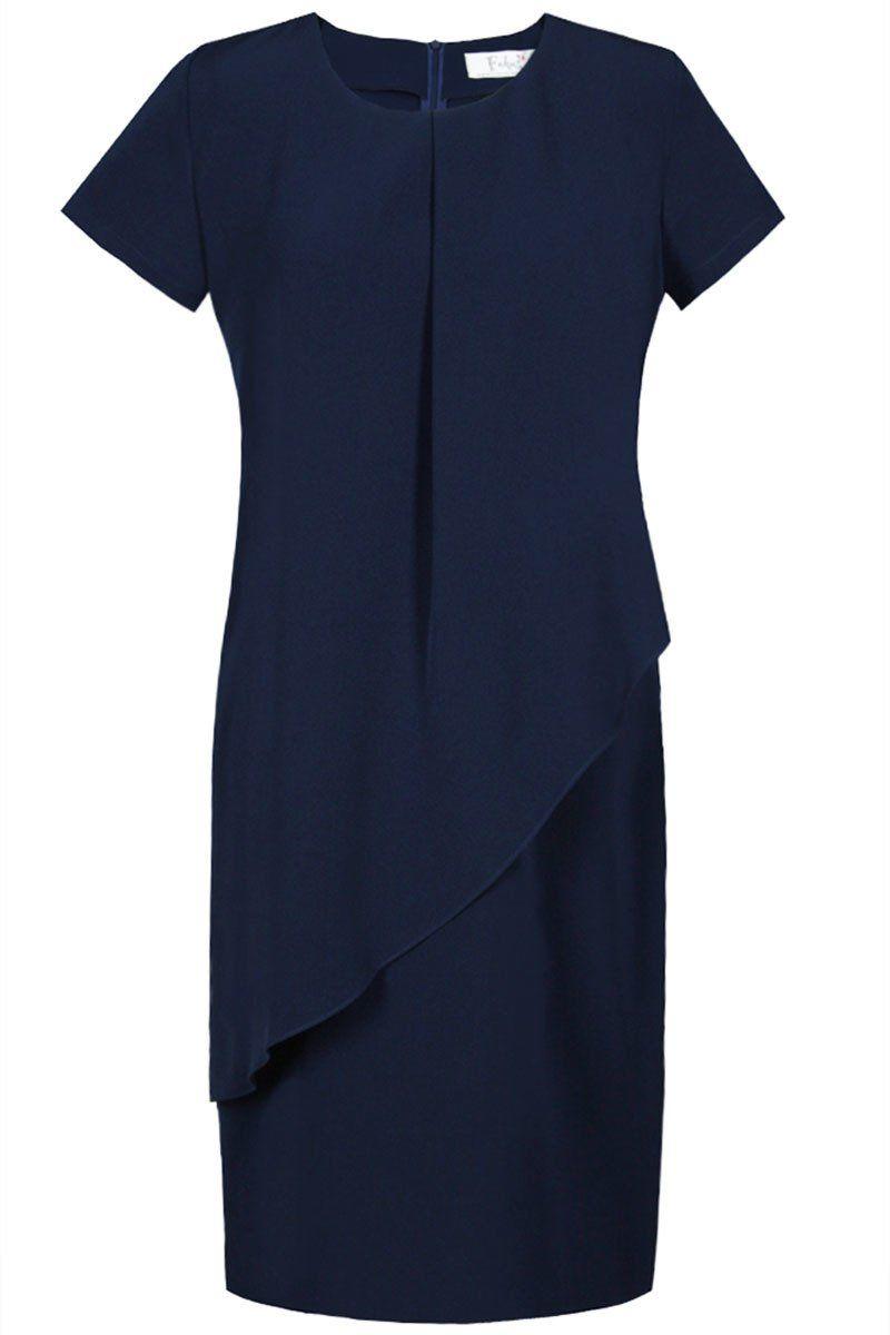Sukienki Sukienka Suknie FSU782 GRANATOWY