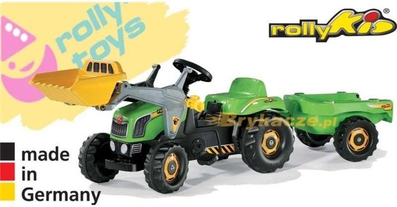 Rolly Toys rollyKid Traktor na pedały z Łyżką i Przyczepą