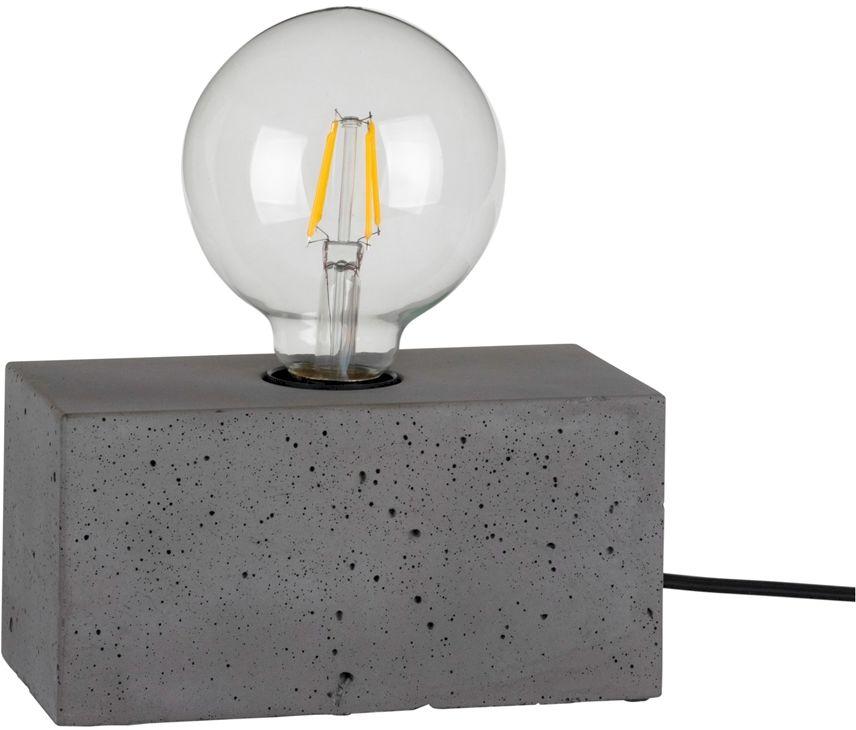 Spot Light 7370936 Strong Double lampa stołowa beton szary/czarny prostokąt 1xE27 25W 18cm