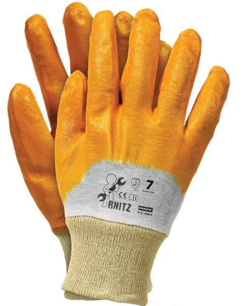 Rękawice robocze RNITZ nitrylowe