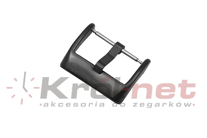 Sprzączka / klamerka czarna - 16, 18, 20, 22, 24 mm, polerowana