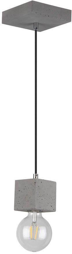 Spot Light 7089136 Strong Square lampa wisząca beton szary /czarny1xE27 60W 8cm