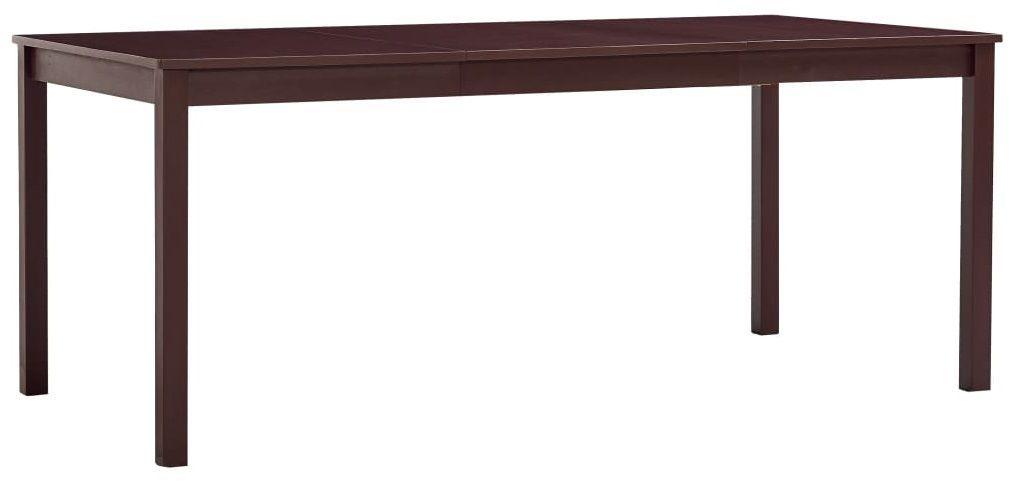 Stół z drewna sosnowego Elmor 3X  ciemnobrązowy