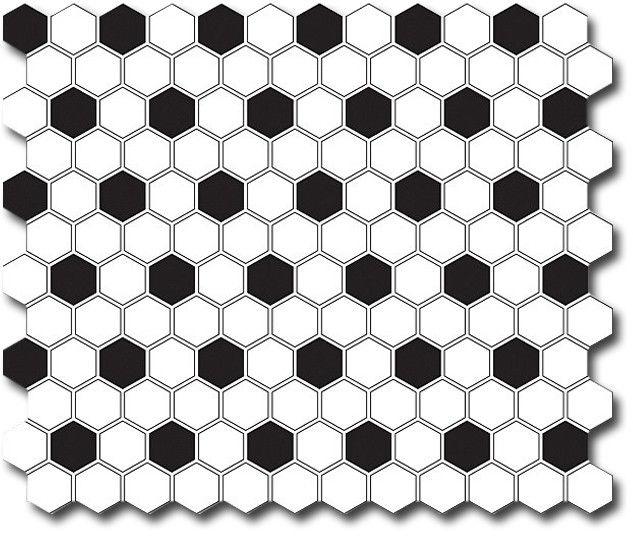Mini Hexagon B&W Mix 26x30