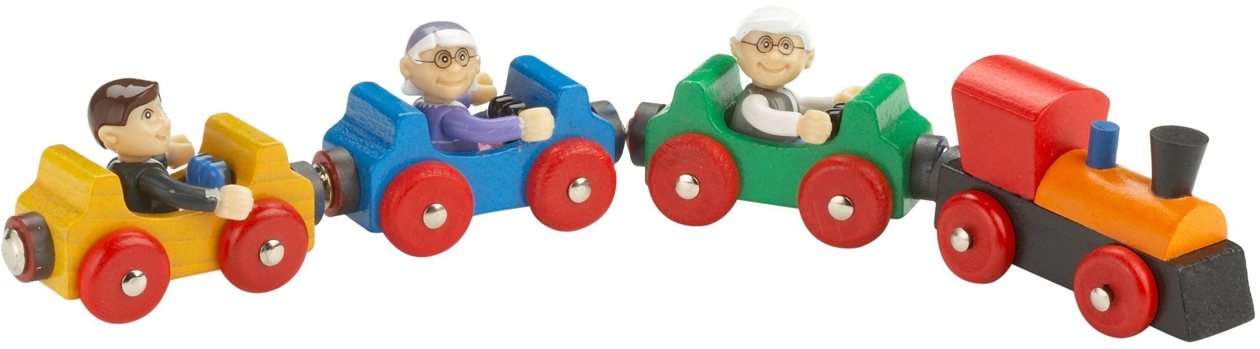 Eichhorn 1164  pociąg z figurkami, 4-częściowy, 21 cm