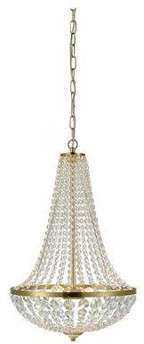 Żyrandol Granso 40cm 106119 Markslojd kryształowa mosiężna oprawa wisząca