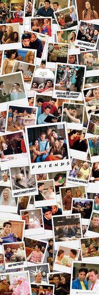 Friends przyjaciele kolaż zdjęć polaroid - plakat