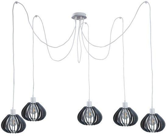 Nowoczesna lampa wisząca pająk NICOLETA 839 szary - 5 szary