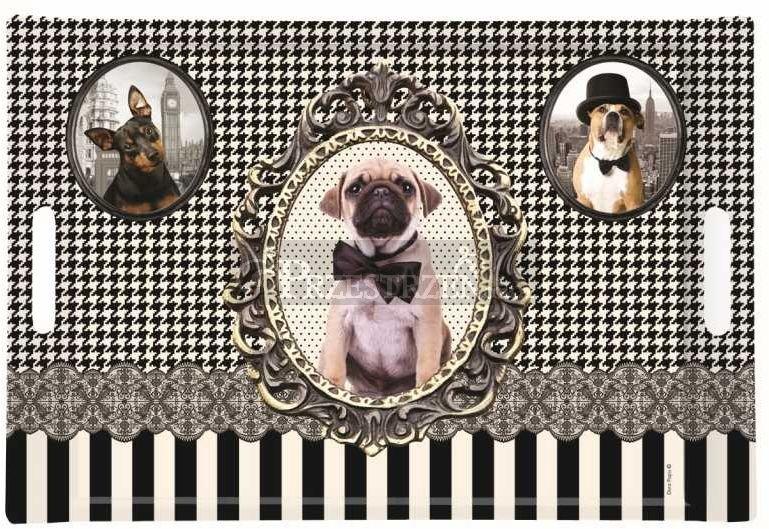 DUŻA TACA DESEROWA - VINTAGE DOGS (300 DOGS)