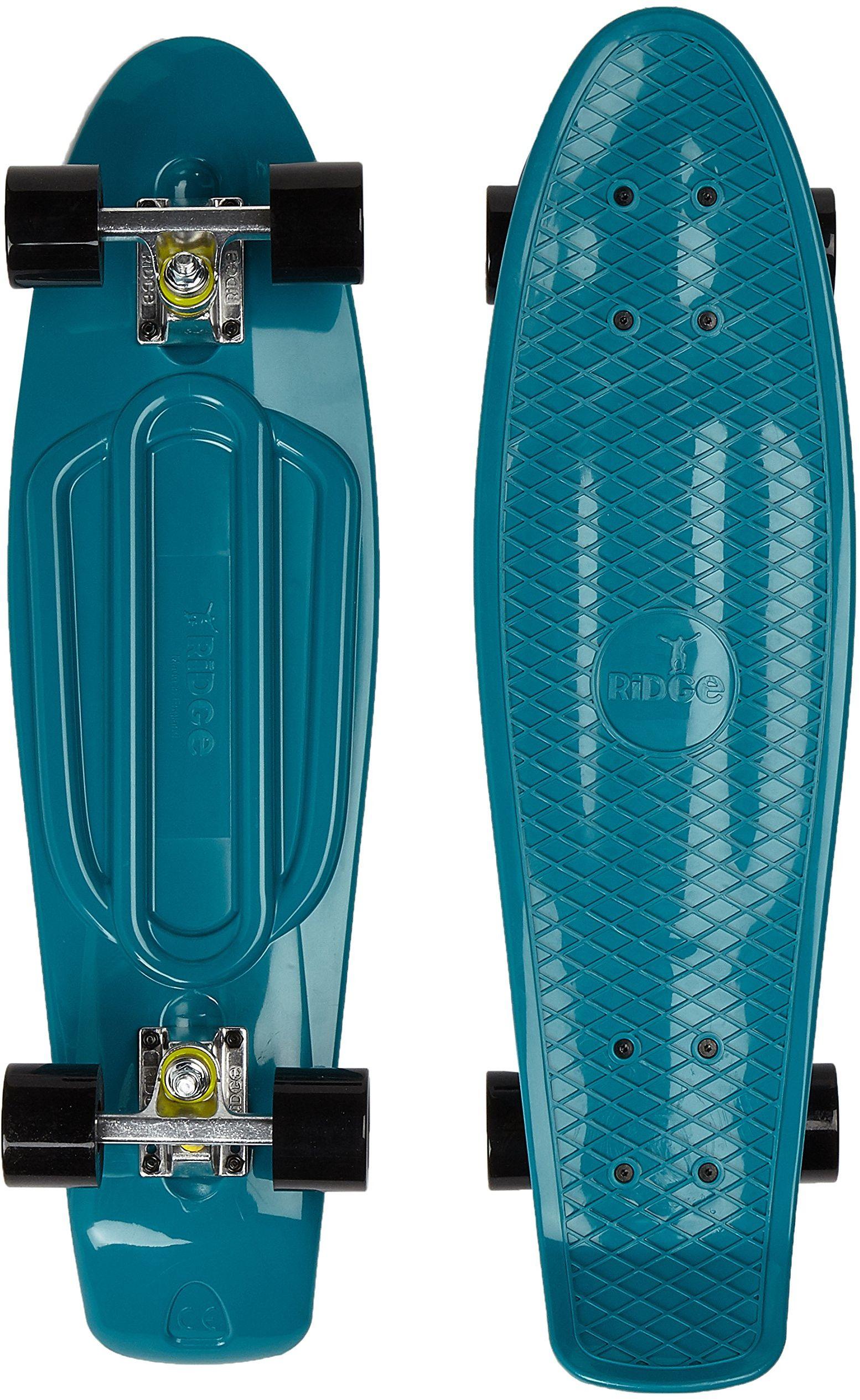 Ridge Skateboards Unisex''s Ridge 27-Organics Range Big Brother Board-Wyprodukowano w Wielkiej Brytanii-78 cm x 19 cm deskorolka, morski/czarny, cale