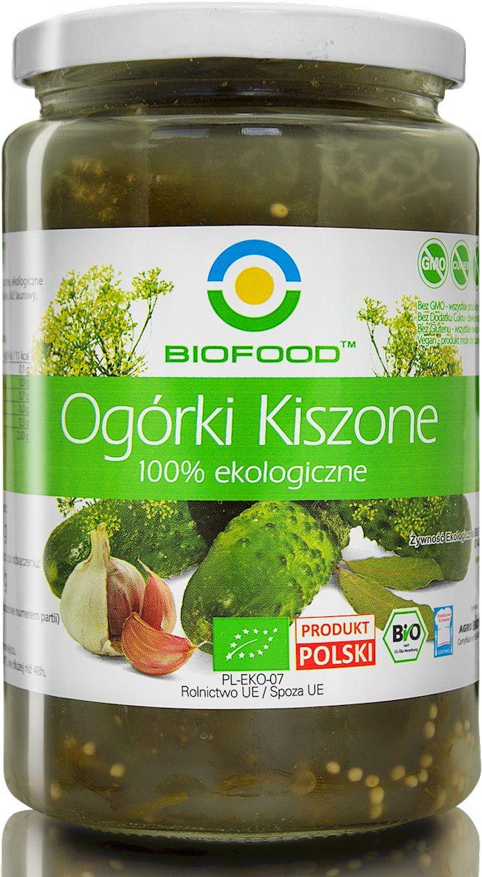 Ogórki kiszone bio 700 g 400 g - bio food