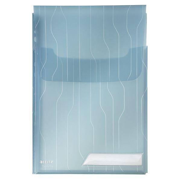 Folder poszerzany LEITZ COMBIFILE A4 niebieski transparentny 200 - X06703