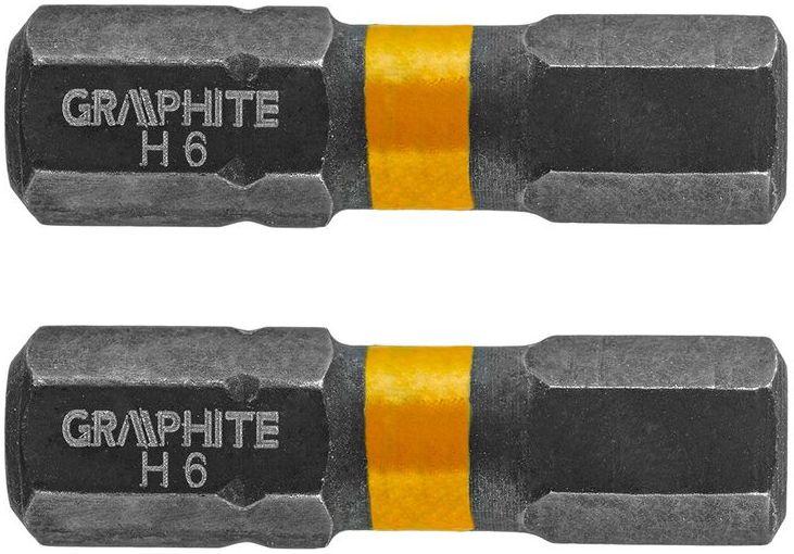 Bity udarowe HEX6x25mm 2szt. 56H509