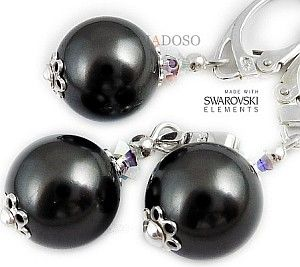 SWAROVSKI perły komplet srebro KOLORY