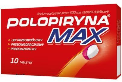 Polopiryna Max 500mg 10 tabletek