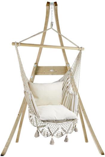 Zestaw hamakowy: fotel AHC-11 ze stojakiem drewnianym Atlas, ecru fotel AHC-11+stojak Atlas