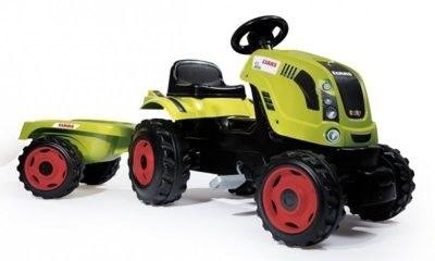 Claas Traktor Na Pedały z Przyczepką Dla Dzieci Smoby