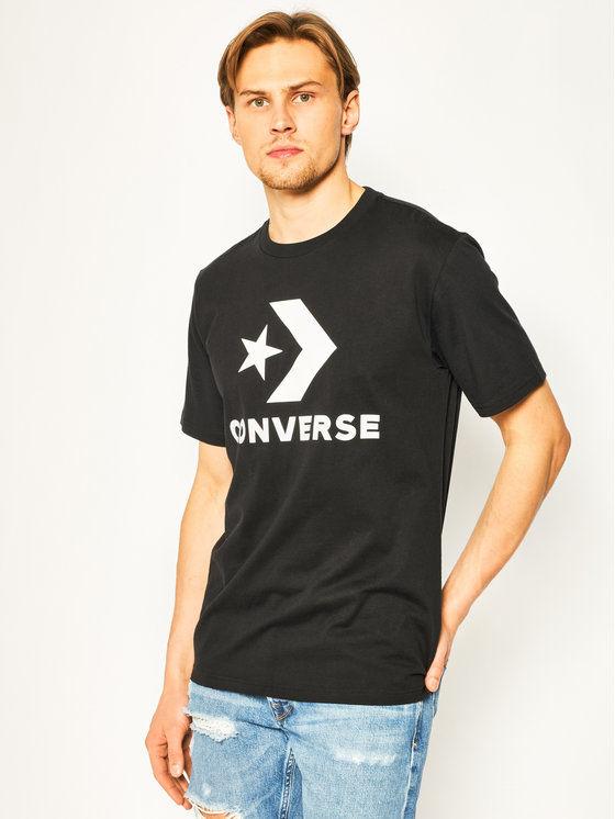 Converse T-Shirt Star Chevron Tee 10018568-A01 Czarny Regular Fit
