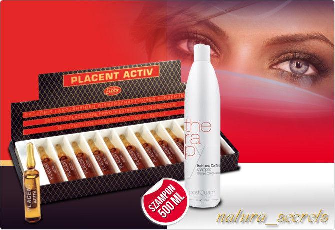 Placenta mil mil activ ampułki + szampon placenta 500 ml