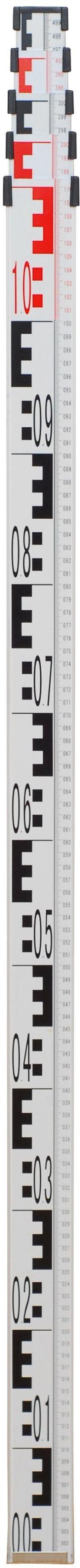 Łata niwelacyjna aluminiowa LN700 - Z TRZEMA PODZIAŁAMI