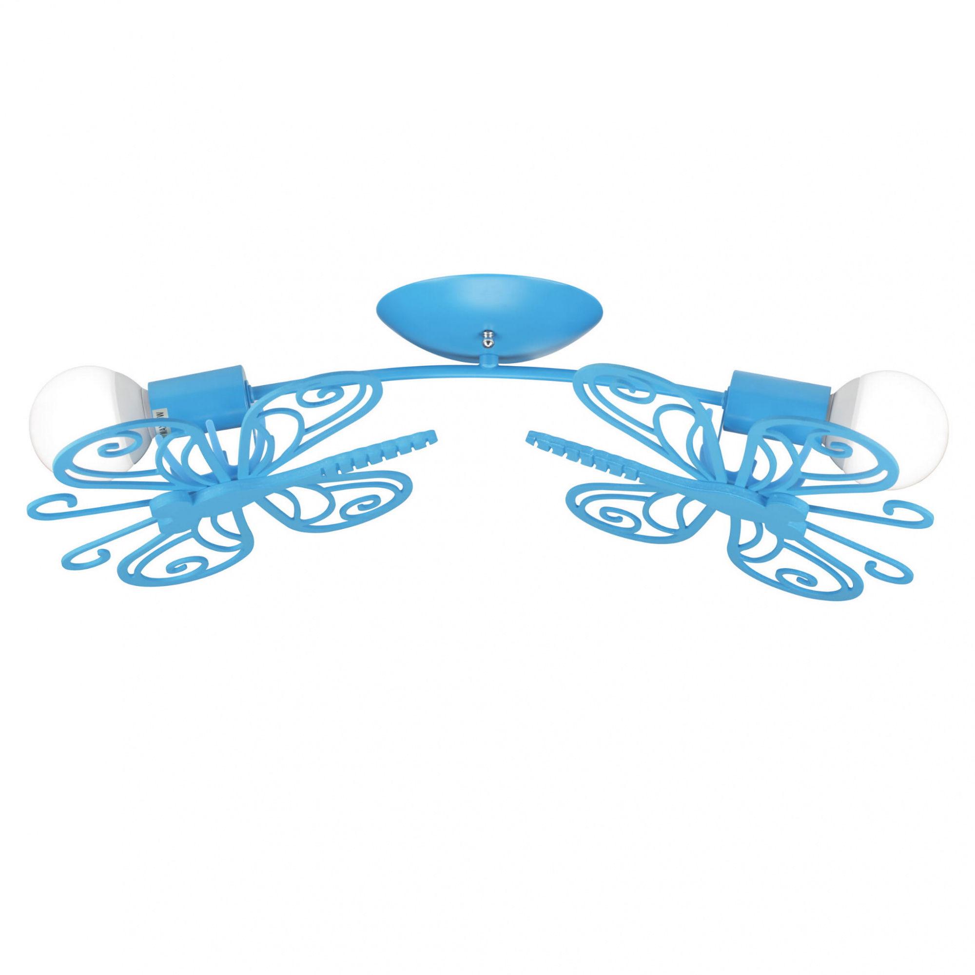 Plafon Motylek 2 LP-14031/2C Light Prestige niebieska lampa sufitowa z motylkami