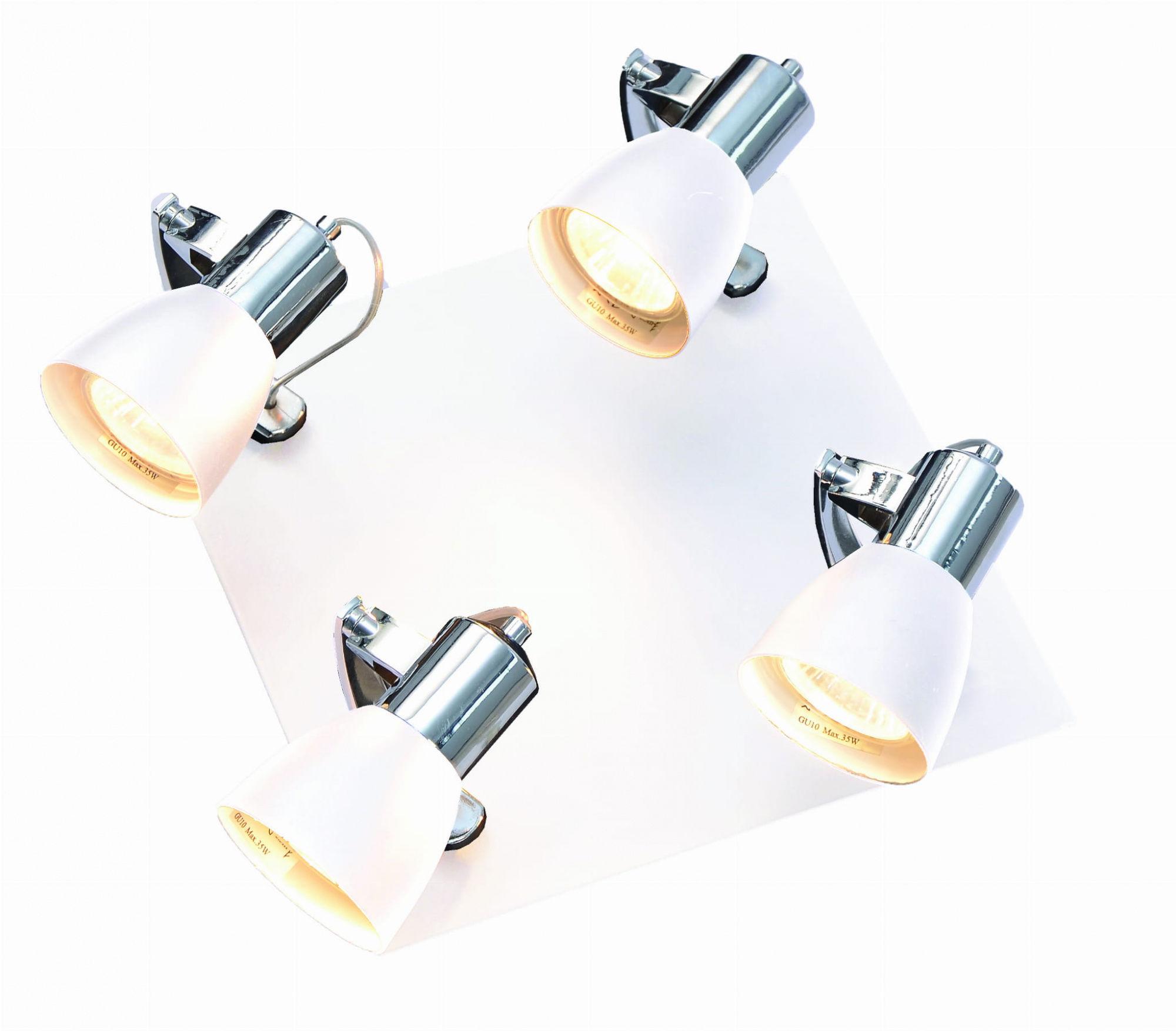 Plafon Rawenna 4 LP-727/4C Light Prestige nowoczesna lampa sufitowa w kolorze białym