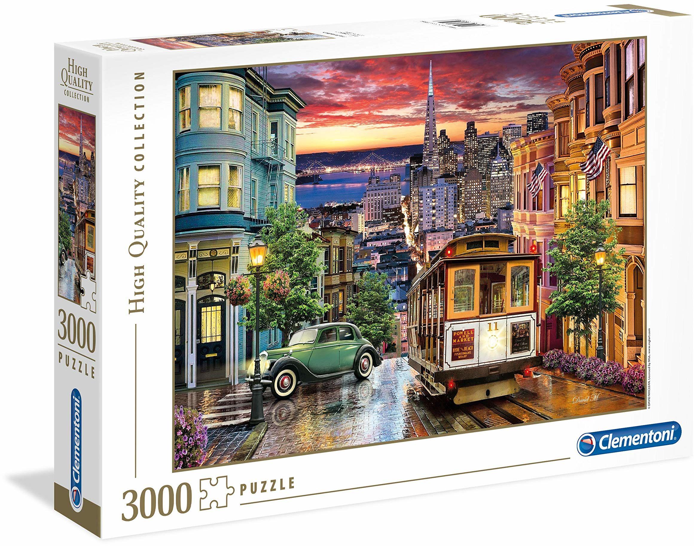 "Clementoni 33547"" San Francisco 3000 części Puzzle High Quality Collection, wielokolorowe"