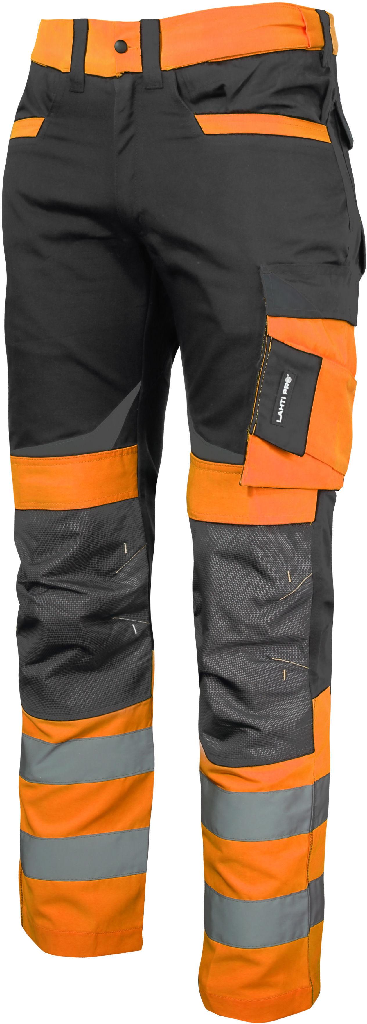 """Spodnie ostrzegawcze czarno-pomarańczowe, """"m"""", ce, lahti"""