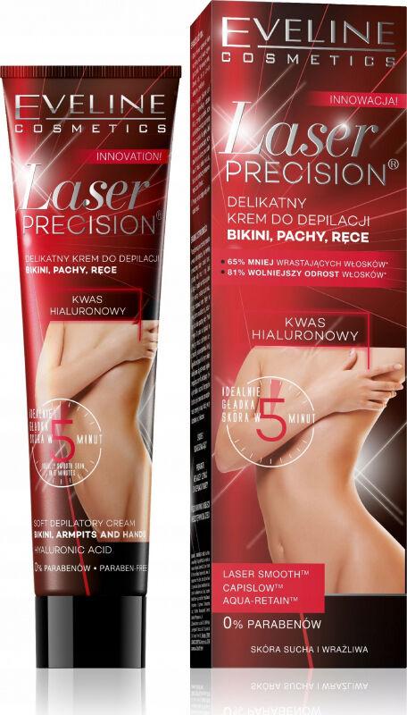 EVELINE - Laser Precision - Delikatny krem do depilacji bikini, pach i rąk do skóry suchej i wrażliwej
