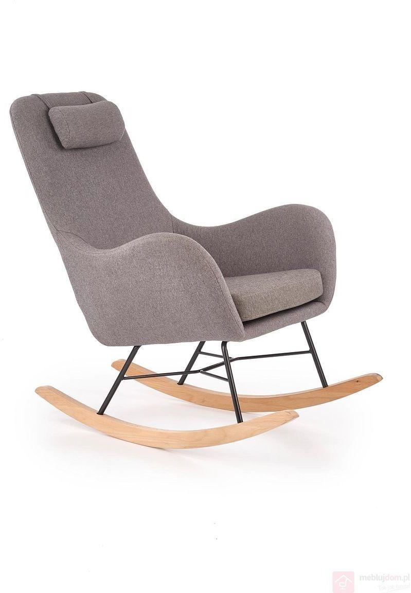 KUPON 10% NA STRONIE  Fotel bujany BOTAS Halmar Szary [Wysyłka 2021-05-04]