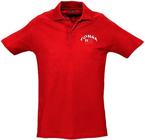 Supportershop Unisex dziecięca koszulka polo Rugby Enfant Tonga Rugby dla dzieci Tonga czerwony czerwony FR : XL (Taille Fabricant : 10 Jahre)