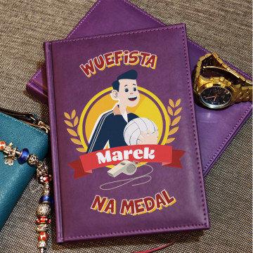 Wuefista na medal - notatnik A5 z nadrukiem