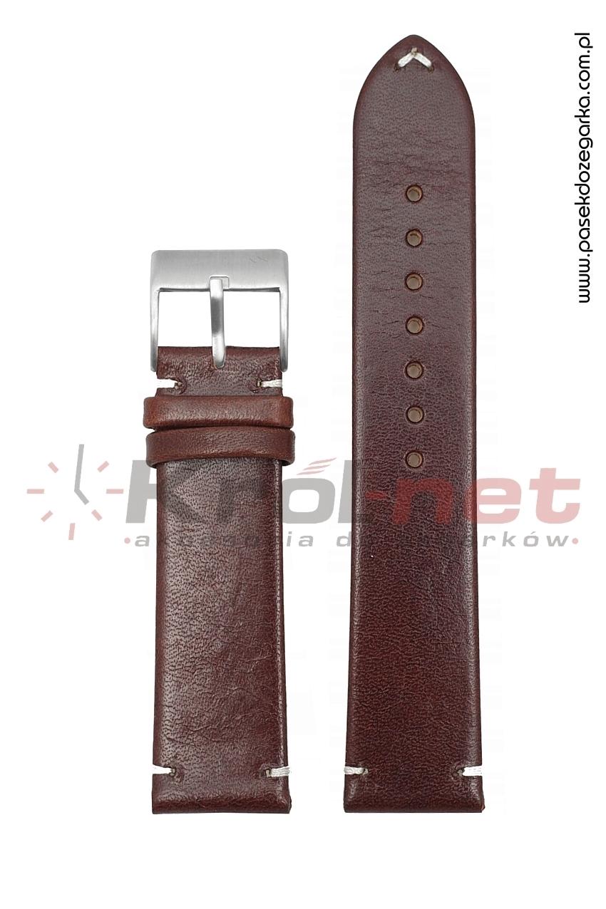 Pasek Tekla TK128BR/B/24 - brązowy, gładki