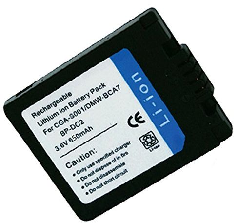 Amsahr Digital Replacement Camera and Camcorder Battery for Panasonic CGA-S001, CGA-S001E