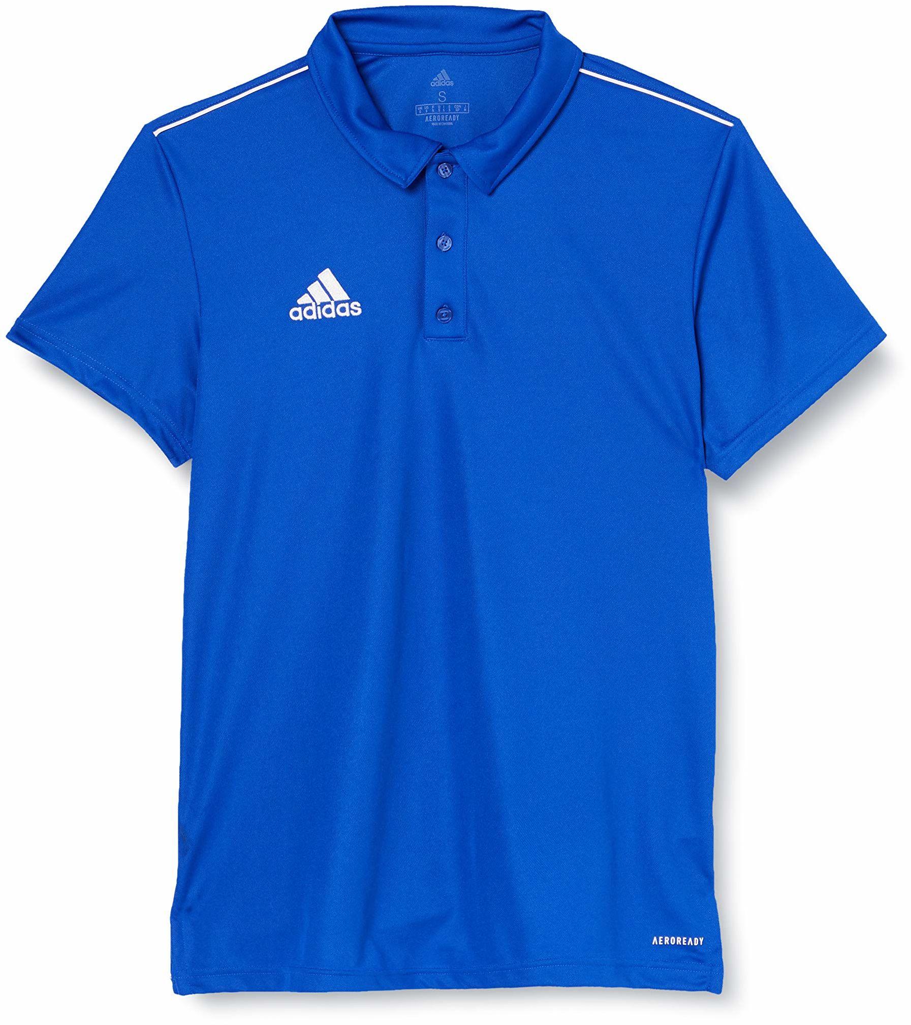 adidas Core 18 męska koszulka polo niebieski niebieski/biały (Bold Blue/White) L